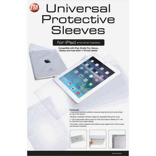 CTA Digital Clear Touch-Sensitive Protective Sleeves PAD-USLV