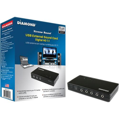 Diamond Xtreme Sound XS71U_V2 External USB Sound Card XS71UV2