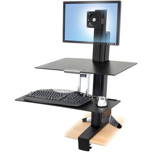 Ergotron 33-350-200 WorkFit-S LCD LD Sit-Stand 33-350-200