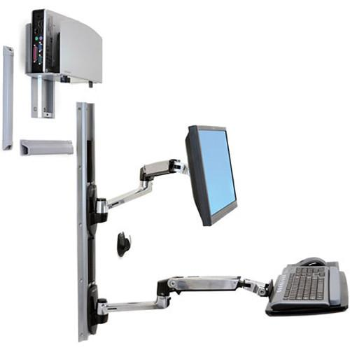 Ergotron LX Wall Mount System with Medium Silver CPU 45-247-026