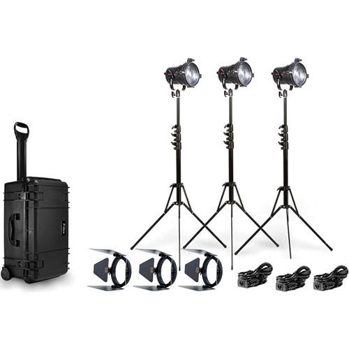 Fiilex K303 Three Light P360 Fresnel Travel Kit FLXK303