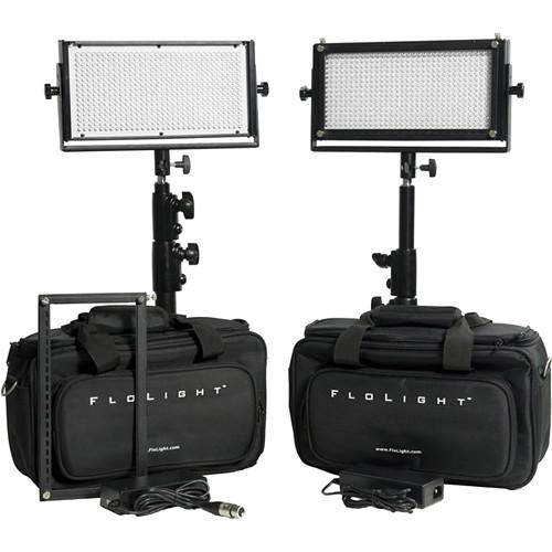 Flolight 2- MicroBeam 512 Daylight LED Video KITLED2X5N-SOFT-D45