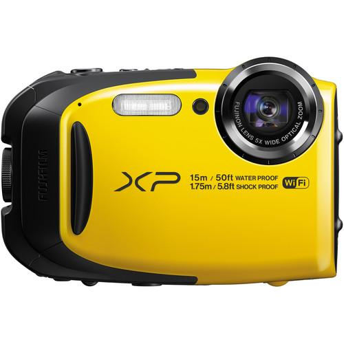 Fujifilm FinePix XP80 Digital Camera Deluxe Kit (Yellow)