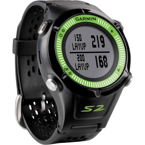 Garmin Approach S2 GPS Golf Watch (Black/Green) 010-01139-03