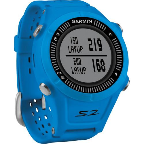 Garmin Approach S2 GPS Golf Watch (Blue/Black) 010-01139-07