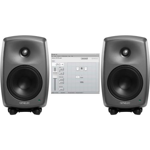Genelec Two 8330A Active Monitor with GLM 8330 STEREO SAM