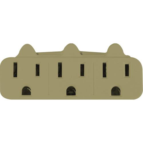 Go Green 3-Outlet Wall Tap Adapter (Tan) GG-13000TT
