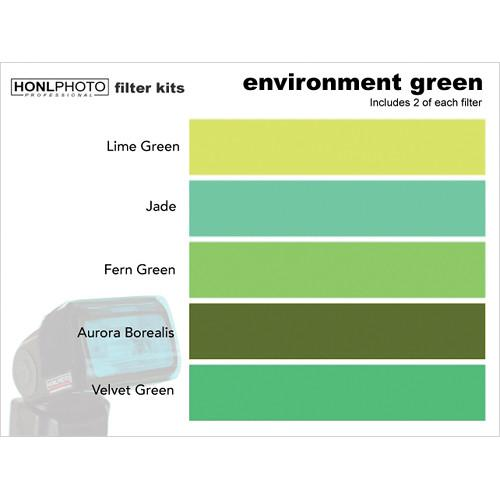 Honl Photo Environment Green Photo Filter Kit HONL-FILTER8