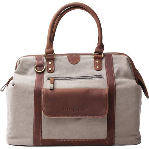 Kelly Moore Bag Jude Bag (Tan Canvas/Brown Trim) KMB-CNV-KHK