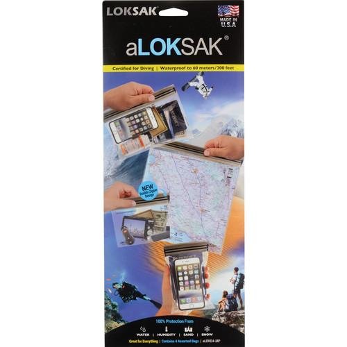 LOKSAK aLOKSAK Waterproof Bags - Medium Multipack LOK-ALOKD4-MP