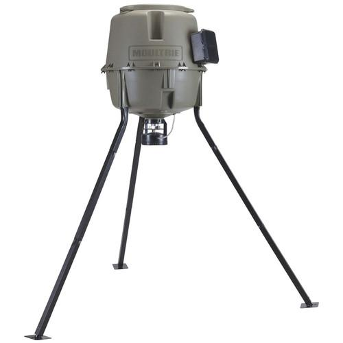 Moultrie 30-Gallon E-Z Lock Tripod Deer Feeder MFG-12608