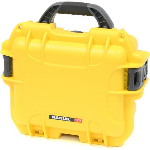 Nanuk 905 Case with Padded Dividers (Yellow) 905-2004