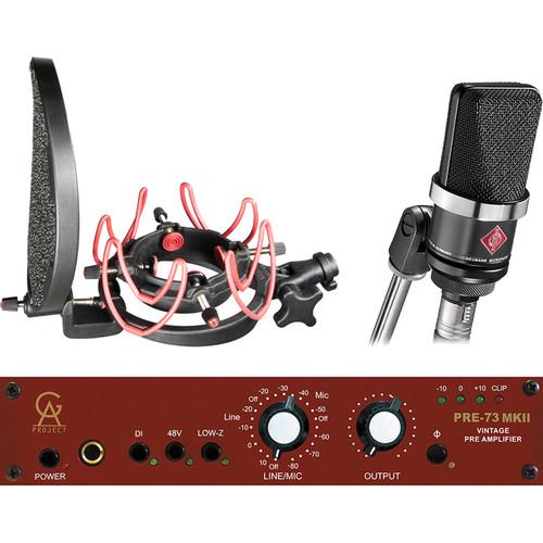 Neumann TLM 102 LDC Mic and GAP PRE-73 MKII Preamp Kit