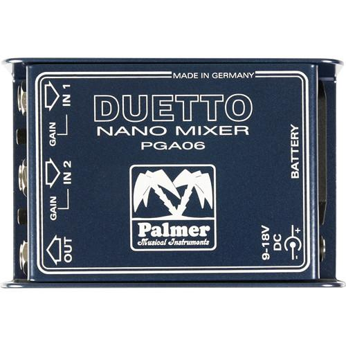 Palmer Duetto Nano Mixer for Guitars and Line Signals PDUETTO