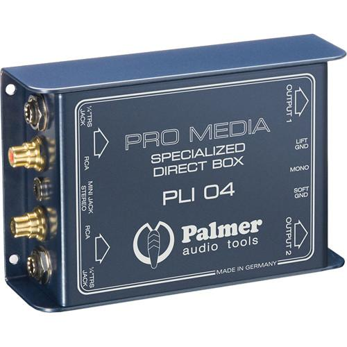 Palmer PLI04 Media DI Box for PC and Laptop (2 Channels) PLI04
