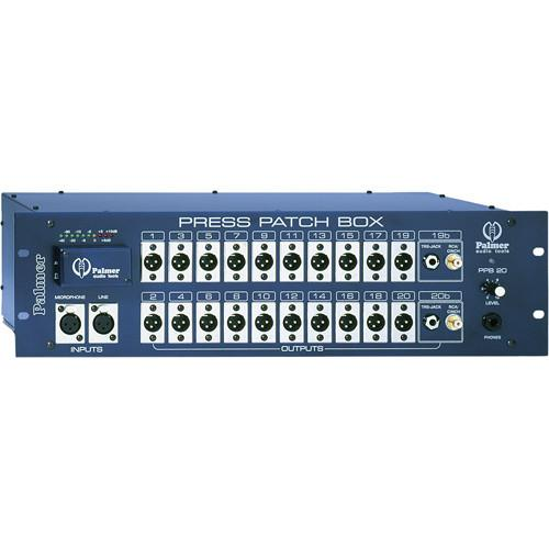 Palmer PPB20S Press Patch Box Stereo (20 Channels) PPB20S