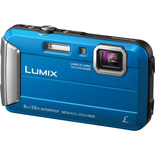 Panasonic Lumix DMC-TS30 Digital Camera Deluxe Kit (Blue)