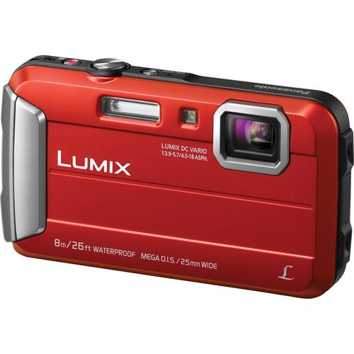 Panasonic Lumix DMC-TS30 Digital Camera Deluxe Kit (Red)