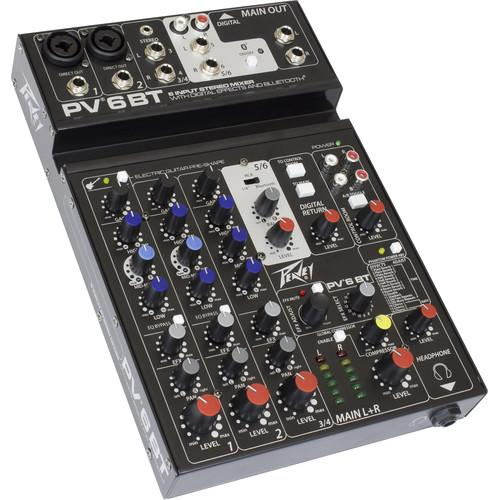Peavey PV 6 BT Mixing Console with Bluetooth 03612590