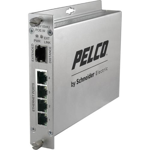 Pelco EthernetConnect EC-4BY1SWC/U Series 4-Port EC4BY1SWUPOEW