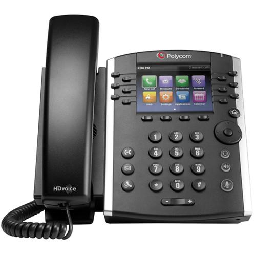 Polycom VVX400 12-Line Phone-No Power Supply-TAA G2200-46157-025