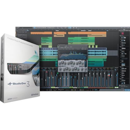 PreSonus Studio One Artist 3 - Audio and S1 ART3.0 DNLD VBOX