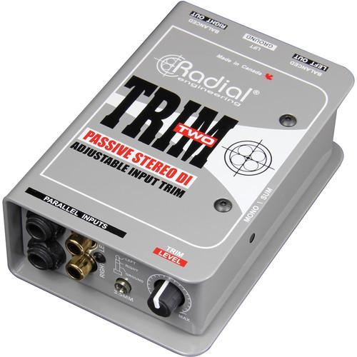 Radial Engineering Trim-Two Stereo DI with Volume R800 1117