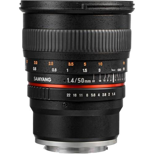 Samyang 50mm f/1.4 AS UMC Lens for Sony E SY50M-E
