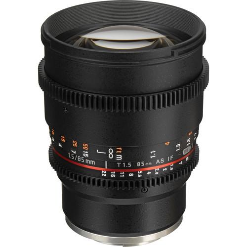 Samyang 85mm T1.5 VDSLRII Cine Lens for Sony E-Mount SYDS85M-NEX