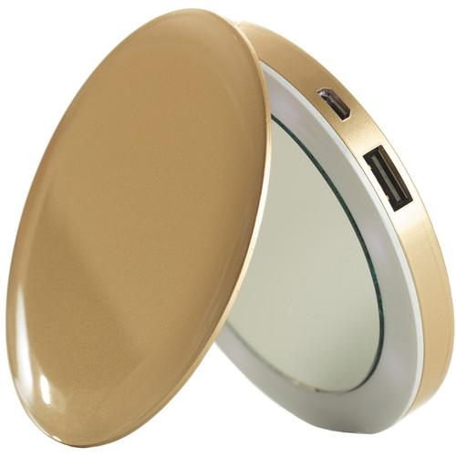 Sanho HyperJuice Pearl Compact Mirror PL3000-GOLD