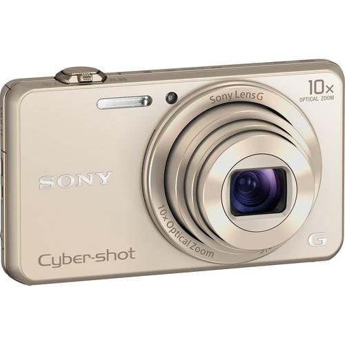 Sony Cyber-shot DSC-WX220 Digital Camera Basic Kit (Gold)