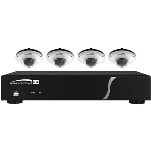 Speco Technologies 8-Channel NVR with 4 White ZIPL84D2