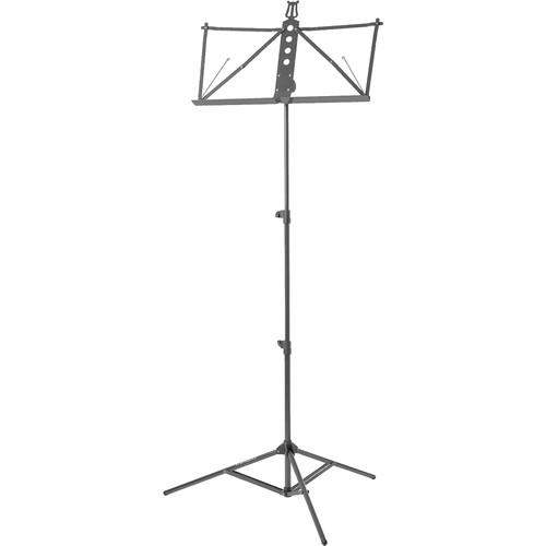 Strukture Deluxe Aluminum Music Stand w/Adjustable Tray S3MS-BK