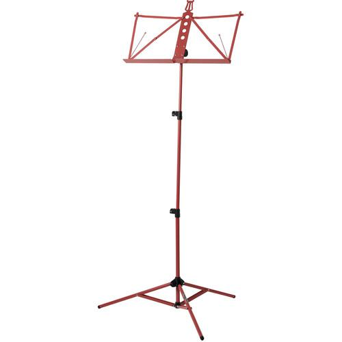 Strukture Deluxe Aluminum Music Stand w/Adjustable Tray S3MS-RD