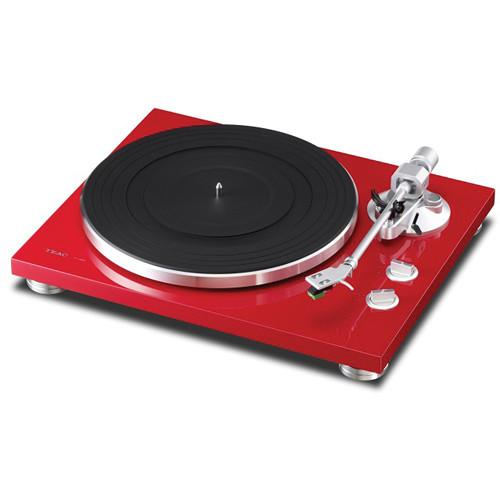 Teac TN-300 Turntable with Phono EQ and USB (Red) TN-300-R