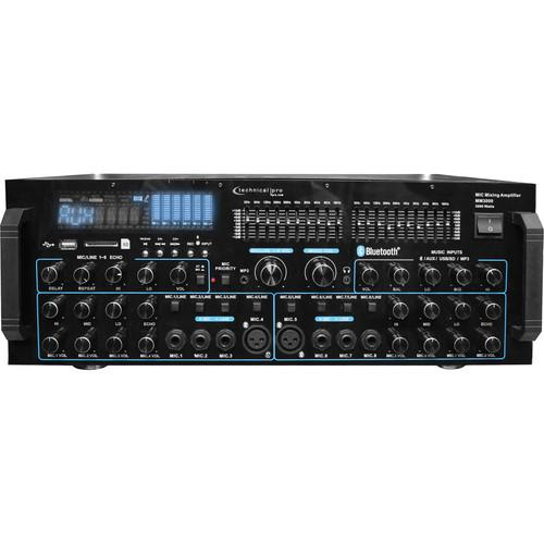 Technical Pro MM3000 Pro Mic Mixing Amp With USB, SD MM3000