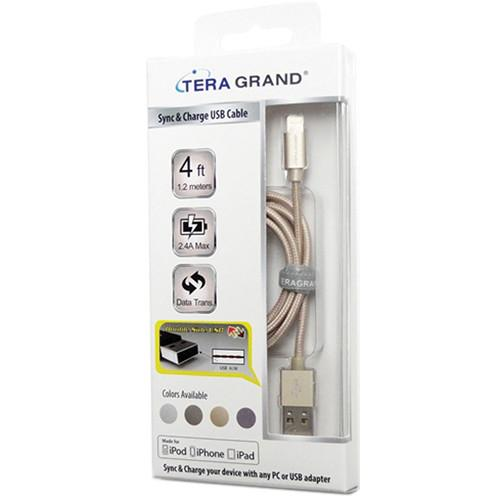 Tera Grand Apple MFi Lightning to USB Sync and APL-WI056-GY