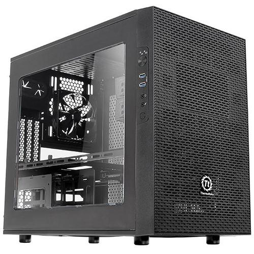 Thermaltake Core X1 ITX Cube Chassis (Black) CA-1D6-00S1WN-00