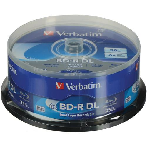Verbatim BD-R Blu-ray DL 50GB 6x with Branded Surface Disc 98356