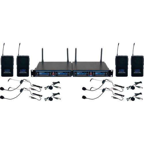 VocoPro UDH-PLAY 4 - Four-Channel UHF/DSP Hybrid UDH-PLAY-4