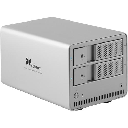 Xcellon DRD-101 8TB (2 x 4TB) Dual-Bay Enclosure Kit with Drives