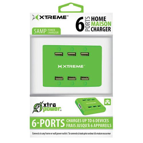 Xtreme Cables  6-Port USB Charger (Green) 81265