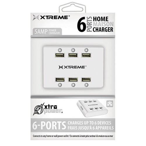 Xtreme Cables  6-Port USB Charger (White) 81266