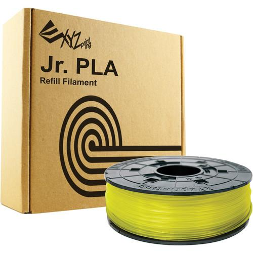 XYZprinting 1.75mm PLA Filament (600g, Clear Yellow) RFPLCXUS03G