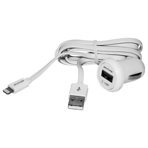 Zfuture Car Charger with USB Cable for iPhone, iPod, ZF2PIPC2.1A