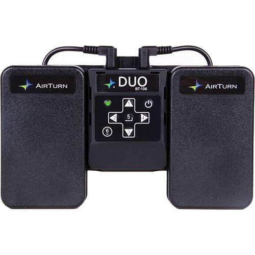 AirTurn DUO BT-106 Bluetooth Transceiver with Two Momentary DUO