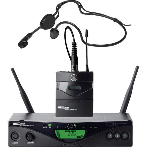 AKG WMS 470 Sports Set Wireless Headworn Microphone 3308H00010