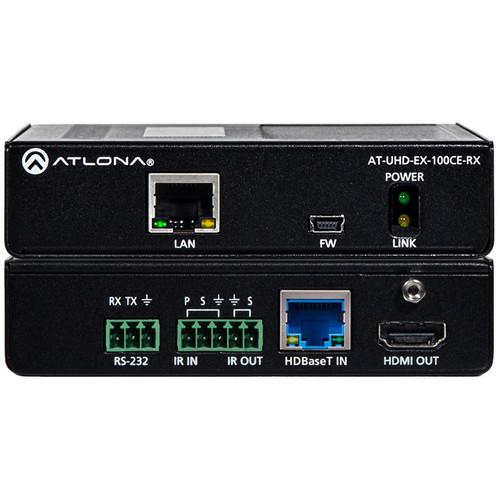 Atlona 4K/UHD HDMI HDBaseT Receiver over Cat AT-UHD-EX-100CE-RX