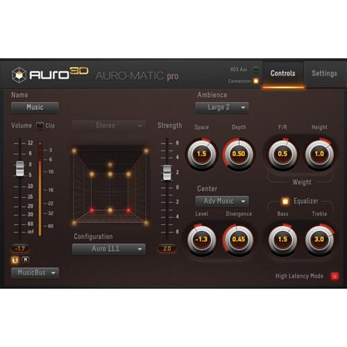 AURO Technologies Auro-Matic Pro 3D - Up-Mixing Plug-In AMP1-3D