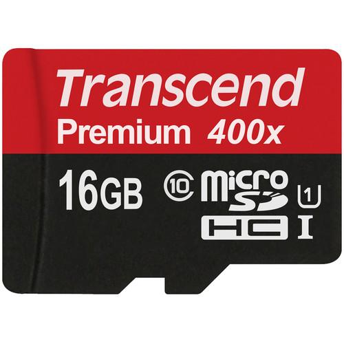 16GB microSDHC Memory Card and EU Charging